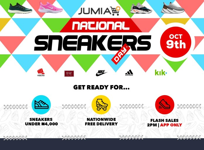 Jumia will be offering Free Delivery for over 1000 Sneakers Purchase to celebrate #NationalSneakersDay