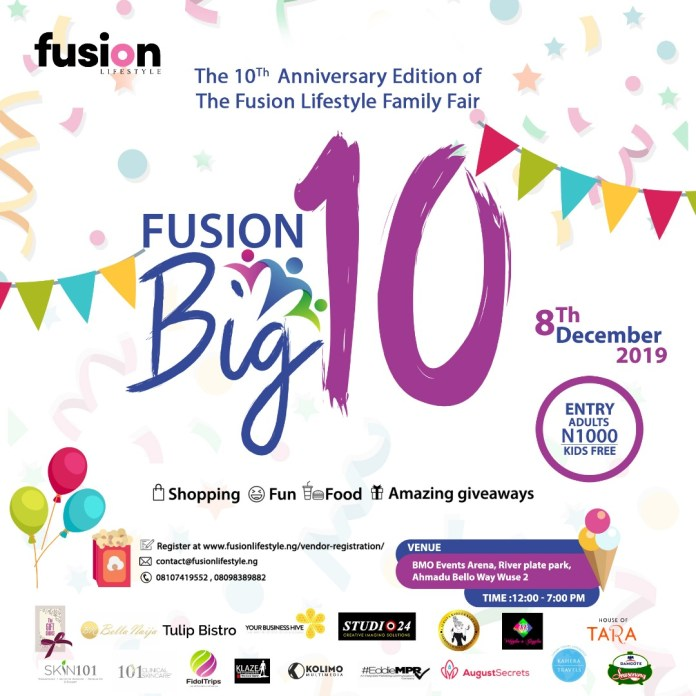 We're Counting Down to the Biggest & Most Exciting Event in Abuja as Fusion Lifestyle Marks its 10th Anniversary
