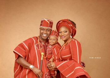 Its a Family Affair! Femi Adebayo & Wife Omotayo Celebrate Son Fadhils First Birthday in Style
