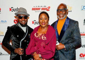 "Noticed: AY Makun, Richard Mofe-Damijo, Ireti Doyle at ""Merry Men 2"" North America Premiere"