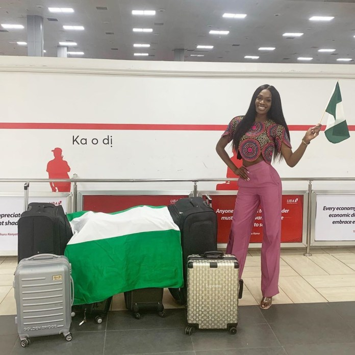 MBGN Universe 2019 Olutosin Araromi is off to represent Nigeria at the Miss Universe Pageant