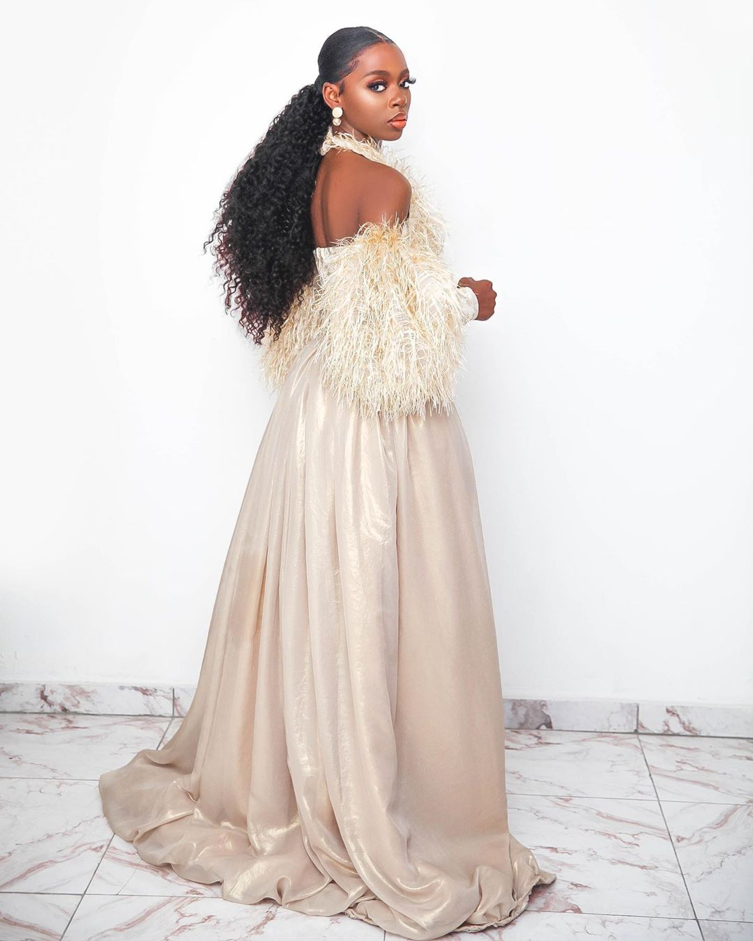 """Your Proof That #BBNaija's Diane Got here, Saw & Slayed at the """"Legend of Inikpi"""" Movie Premiere"""