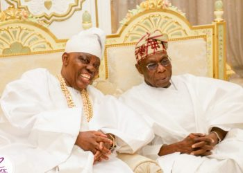 Noticed: Toke Makinwa, Olusegun Obasanjo, HRM Saheed Ademola Elegushi at Rasaq Okoyas 80th Birthday