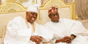 Noticed: Toke Makinwa, Olusegun Obasanjo, HRM Saheed Ademola Elegushi at Rasaq Okoyas 80th Birthday
