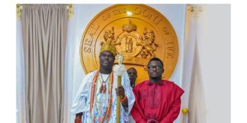 Sujimoto receives Royal Recognition & Award of Excellence from the Ooni of Ife