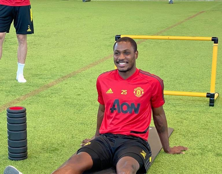 We're Celebrating Odion Ighalo's Manchester United Loan Extension with Photos of him Smiling