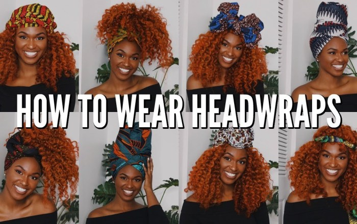 """9 Quick & Easy Headwrap Styles for that """"Bad Hair Week"""" Forecast"""