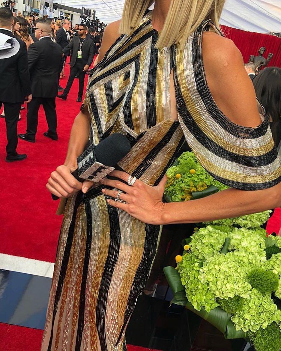 Bonang Matheba and Giuliana Rancic sparkle inthisSteven Khalil Dress