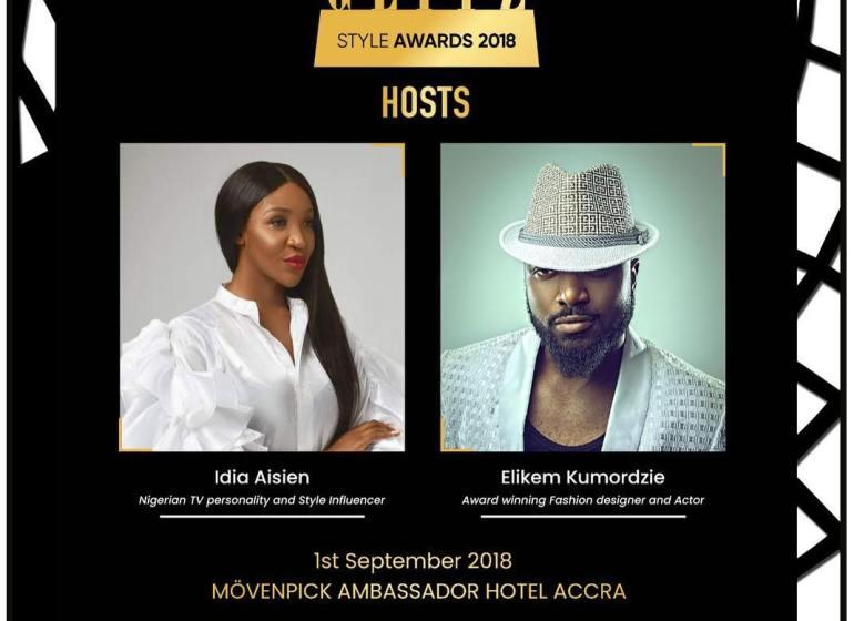 Idia Aisien and elikem kumordzie set to host Glitz award 2018