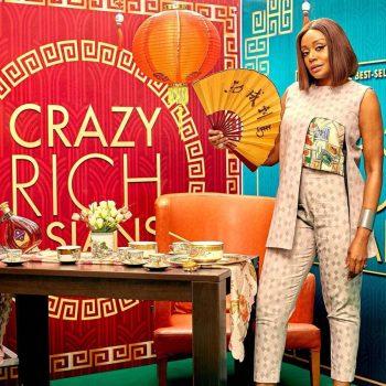 Michelle Dede Wore A Stunning FIA Asymmetrical Stamp Set To #CrazyRichAsians Movie Screening