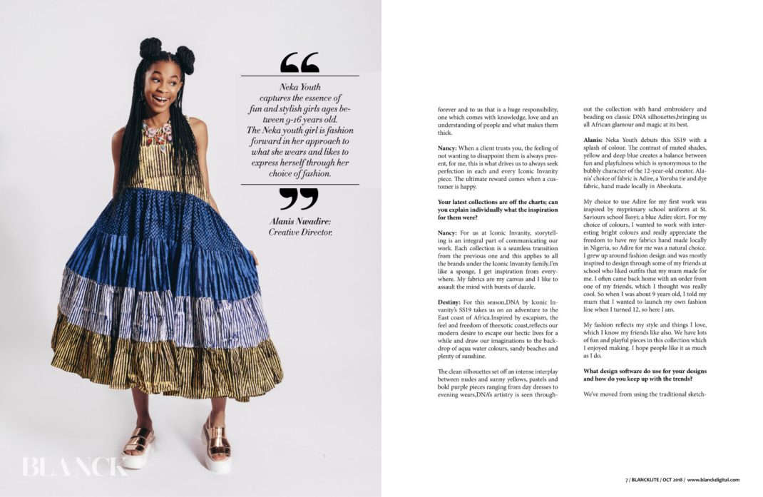 Nancy, Destiny & Alanis Nwadire Are The Latest Cover Stars For Blanck Magazine