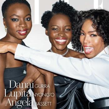 Lupita Nyong'O, Dania Gurira and Angela Bassett on Elle US Magazine