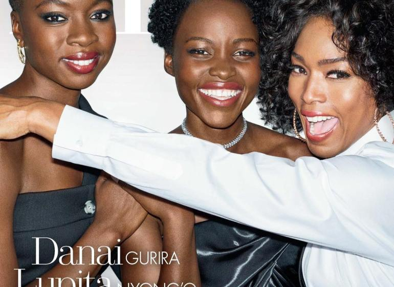 Lupita Nyong'O, Dania Gurira and Angela Bassett on Elle US Magazine