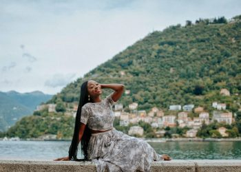 Afua Osei Pulls Off Her Most Glamorous Trip Seems But on Her Italian Journey to Lake Como and Venice | BN Type