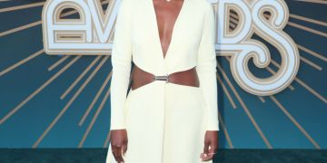 Issa Rae Stunned In A Sweet & Sultry Jason Rembert Dress At The Soul Train Awards 2019   BN Style