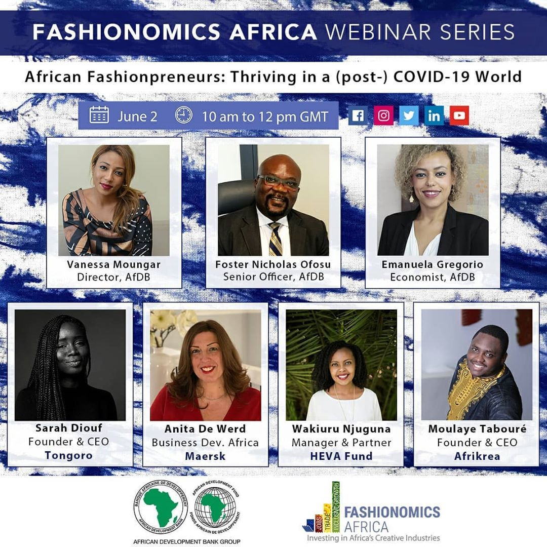 AfDB Invites Fashion Experts To Share Tips on Navigating COVID-19 At Its Inaugural Fashionomics Africa Webinar Series | BN Style