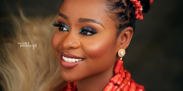 Coral Beads + a Stunning Hairstyle = Today's Igbo Bridal Beauty Look