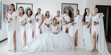 These 4 All-White Classic Bridal Squads are Definitely Worth Loving