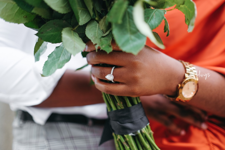 You will Love Sam's Romantic Garden Proposal to Mayowa in London