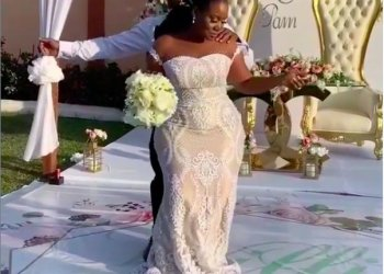 Watch this Ghanaian Couple all Loved Up at their Wedding Reception