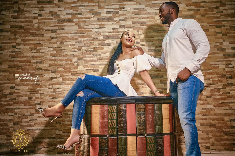 Edo Queen + Yoruba Prince = Lilian & Shola's Pre-wedding Shoot