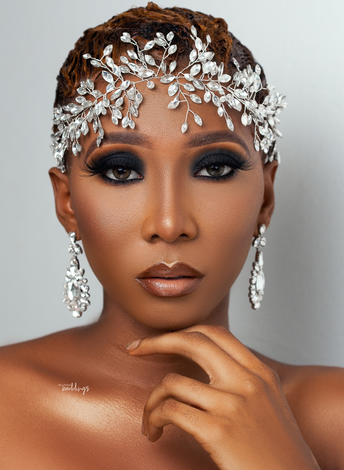 Short hair Brides! This Smokey Bridal Beauty is for YOU | BellaNaija Weddings