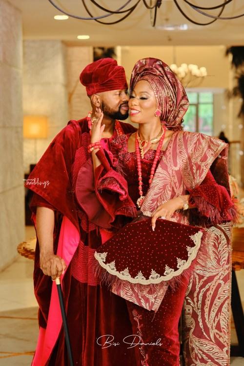 traditional wedding attire, Debola williams and Kehinde wedding