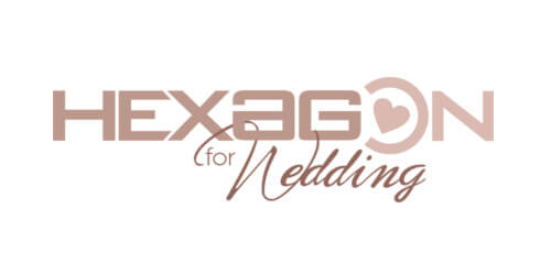 calligrafia hexagon wedding