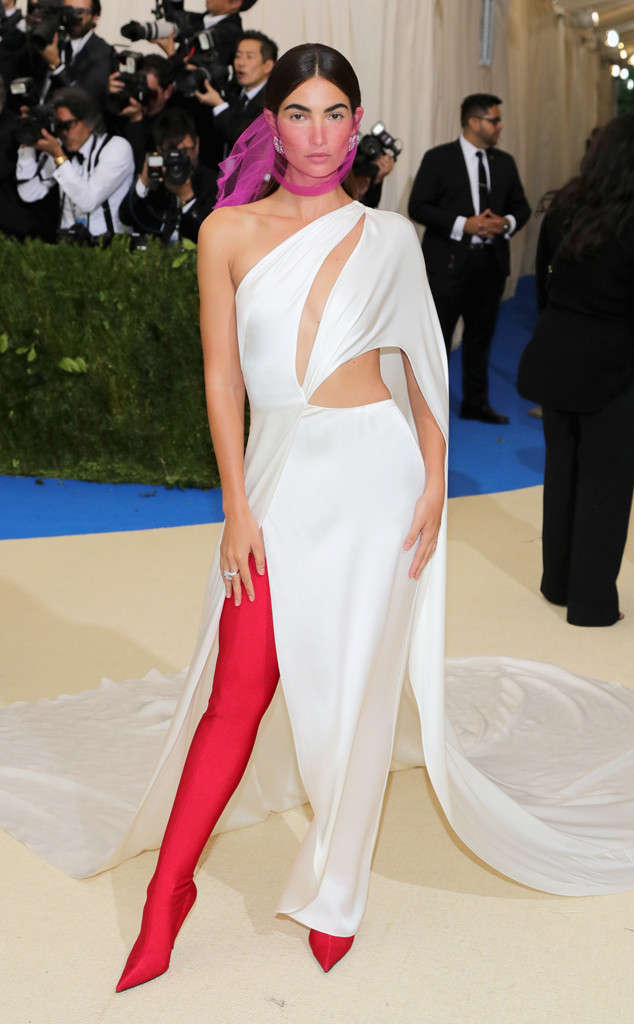 Lily Aldridge in Ralph Lauren and Bulgari jewelry.