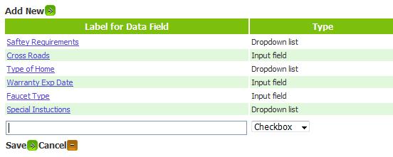 Custom Data Field Input Format - Bella Solutions Field Service Software