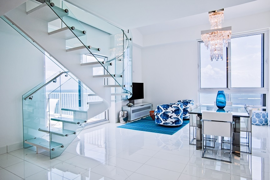 Circular Staircase Takeover In Marathon Bella Stairs | Glass And Chrome Staircase | Contemporary | White Post | Single Spine | Lights | Stainless Steel