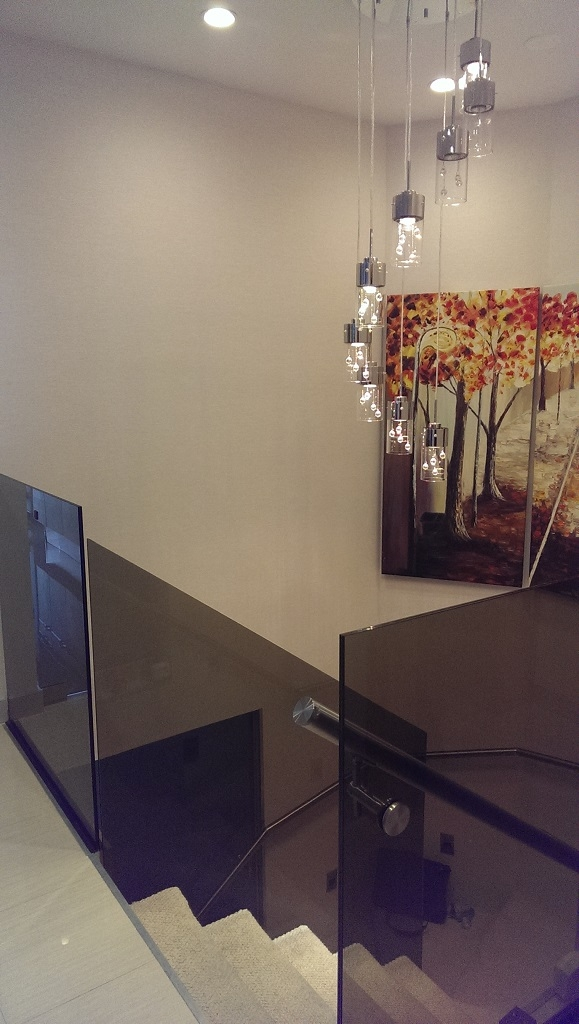 Bronze Glass Railings In Aventura Fl Bella Stairs | Staircase Railing With Glass | Low Cost | Cost | Residential | Pinterest | Spiral
