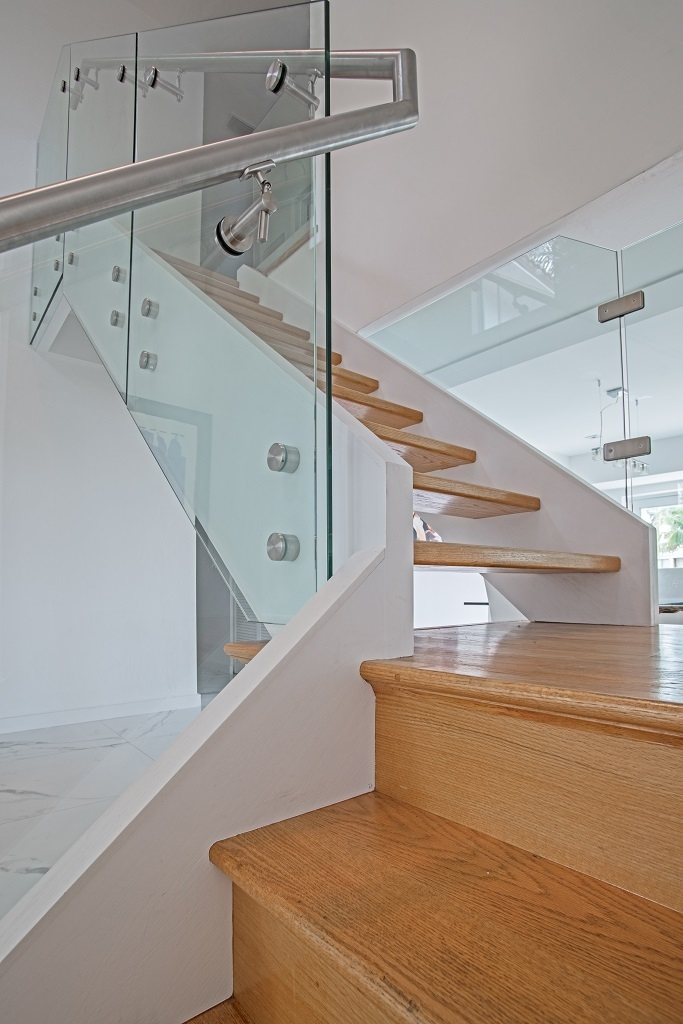 Residential Glass Railings Bella Stairs | Glass Staircase Panels Near Me | Glass Railing Systems | Wood | Spiral Staircase | Stair Parts | Stainless Steel