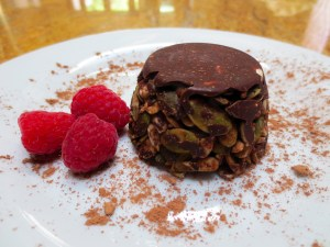Healthy Chocolate Nut Crunch Dessert