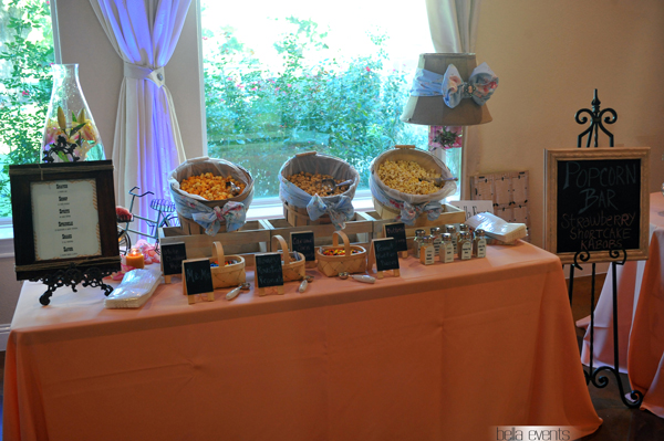 Popcorn Station Popcorn Bar Wedding Reception Popcorn