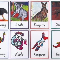 Kitchen Floor Cleaner Modern White Gloss Cabinets Aboriginal Australian Animal Memory Cards - 32pk