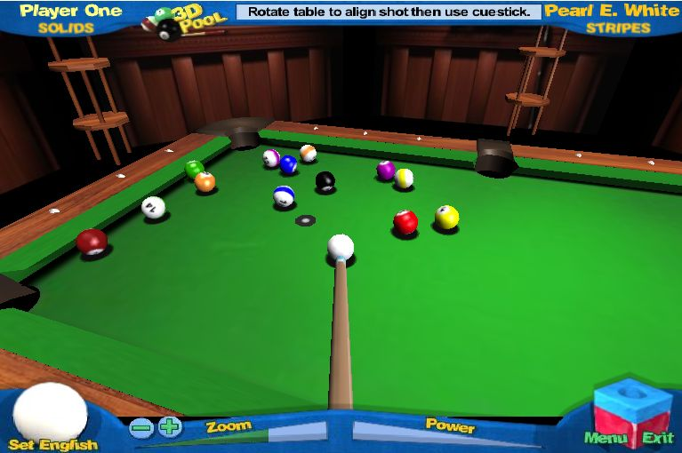 Jeu de billard 3D pool
