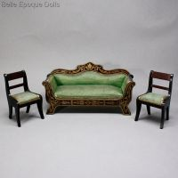 Antique Dolls House Furniture / Antique German Furnishings