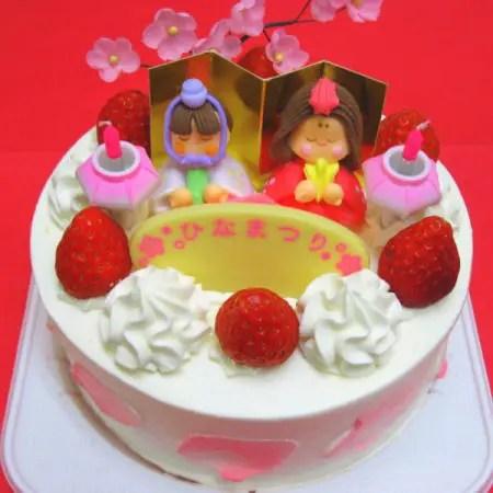 丸いひな祭りケーキのベルジュール
