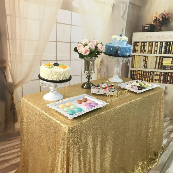 RECTANGULAR Tablecloth - Gold 2