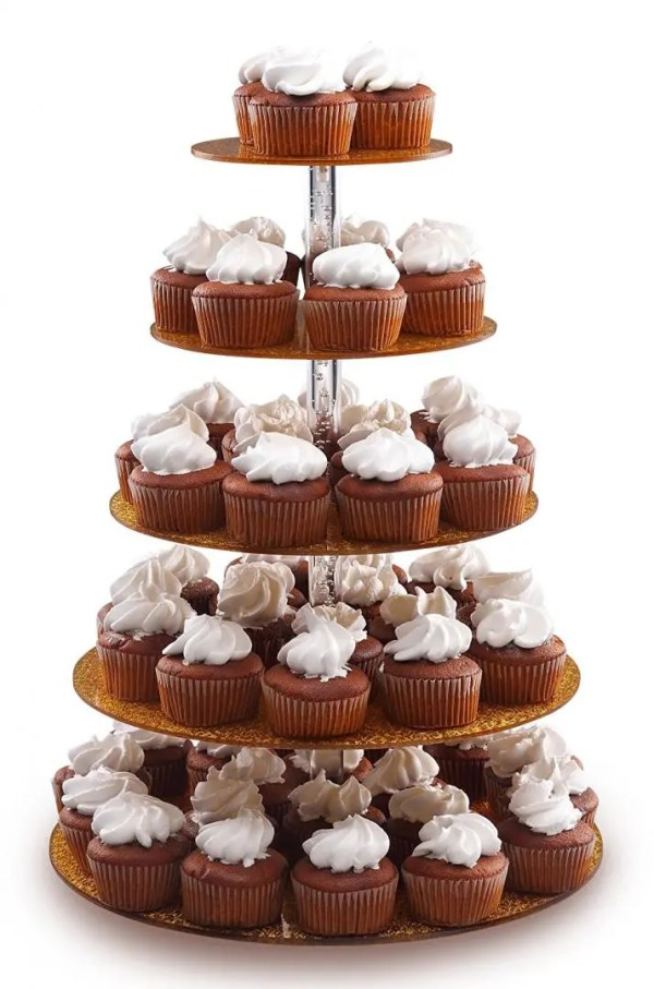 5 tier cupcake stand gold