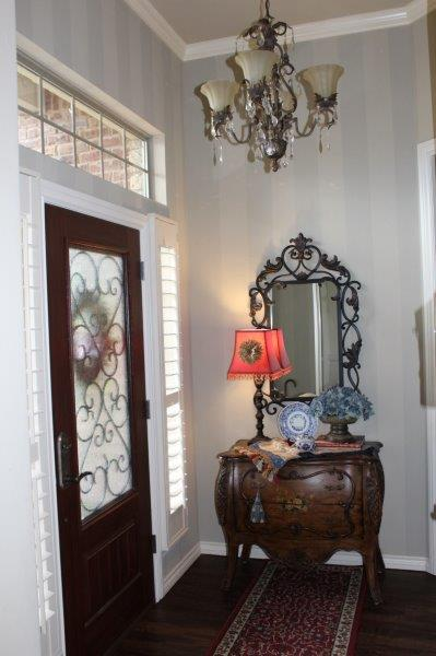 Belle Bleu Interiors French Country Entry Hall 12