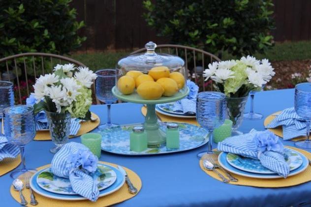 Belle Bleu Interiors Hydrangea Tablescape 1