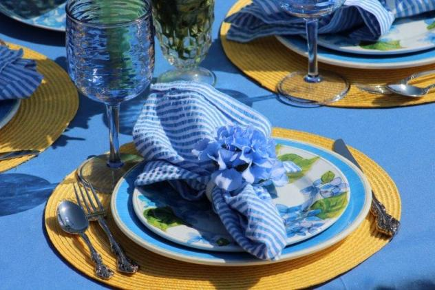 Belle Bleu Interiors Hydrangea Tablescape 14