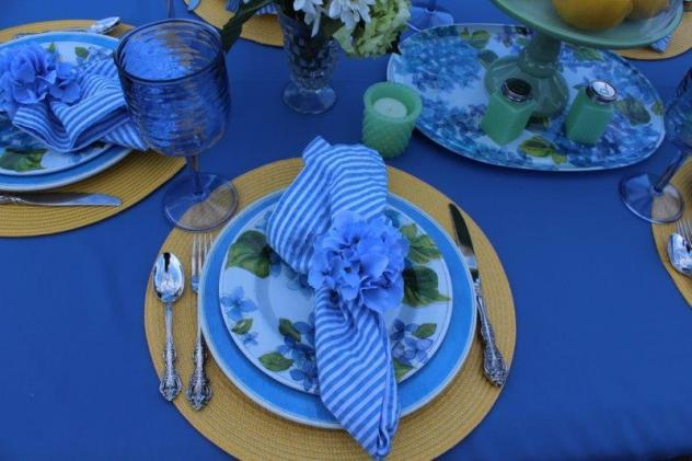 Belle Bleu Interiors Hydrangea Tablescape 4