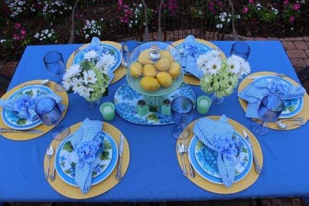 Belle Bleu Interiors Hydrangea Tablescape 8