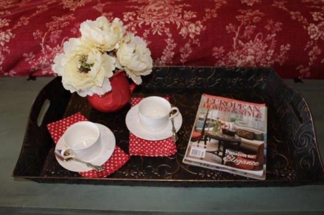 French Country Vignette, vignettes, tray vignette
