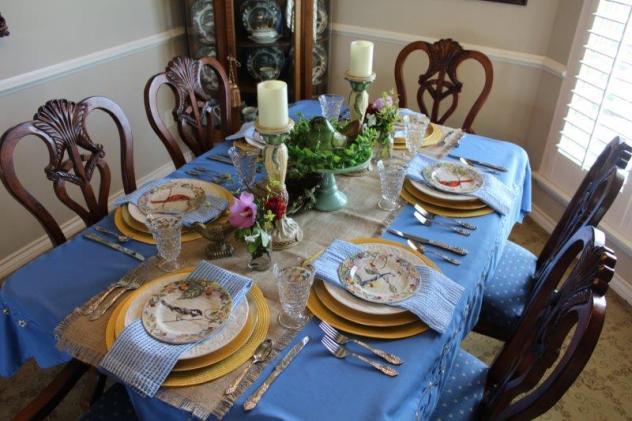 Belle Bleu Interiors Bird Tablescape 10