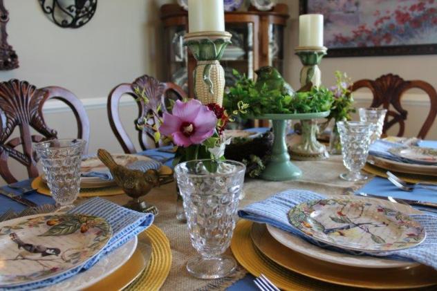 Belle Bleu Interiors Bird Tablescape 2