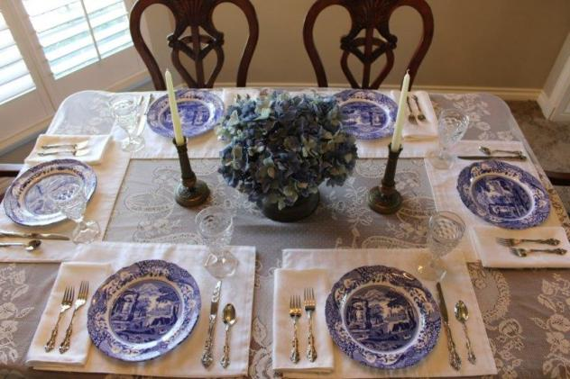 Belle Bleu Interiors Blue Italian Tablescape 3
